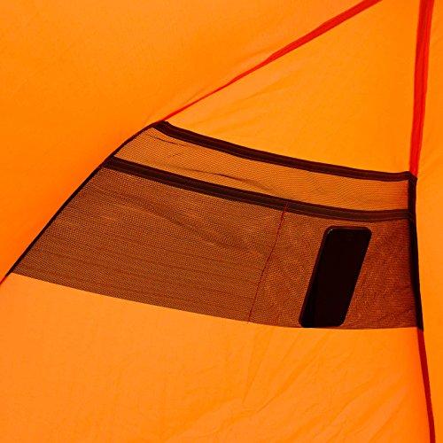 Qeedo Strandmuschel Quick Bay, Strandzelt mit UV-Schutz, Sonnenschutz und 360° Panorama View - orange - 9