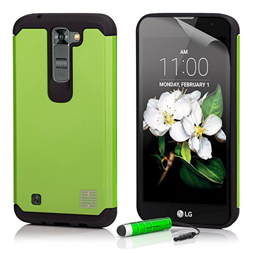 LG K7 Schutzhülle von 32nd® Schlank Stoßfeste Hülle Schutzgehäuse, Inklusive Displayschutzfolie und Eingabestift - Grün