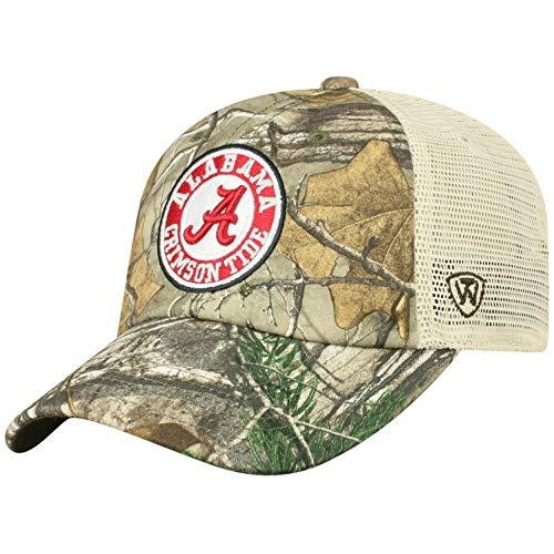 Top of the World NCAA Alabama Crimson Tide Men's Camo Stock Adjustable Mesh Icon Hat, Real Tree Alabama Crimson Tide Camo