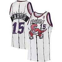 canottejerseyNBA Vince Carter - Toronto Raptors #15, Basket Jersey Maglia Canotta, Swingman Ricamata, Abbigliamento Sportivo