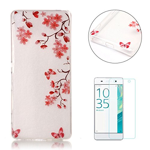 sony-xperia-xa-silicone-gel-case-with-free-screen-protectorcasehome-crystal-clear-shock-proof-soft-d
