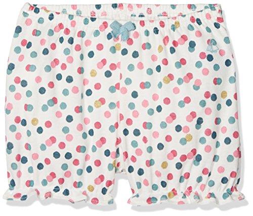 Petit Bateau Baby-Mädchen Shorts Culotte Bloomer 28768, Mehrfarbig (Marshmallow/Babylone/Multico 58), 80 (Herstellergröße: 12m/74cm)