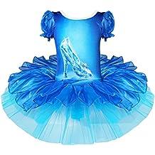 iEFiEL Disfraces de Princesa Infantil Vestido de Danza Tutú Ballet Fiesta para Niña con Braga Interior