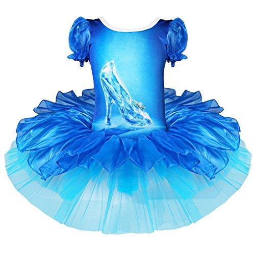 YiZYiF Mädchen Kleid Prinzessin Kostüm Ballerinas Fasching Halloween Cosplay Festkleid (110-116)