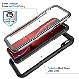 ATOP iPhone Xr case, Full-Body Protection Rugged Clear Bumper Case with Built-in Screen Protector,Heavy Duty Dropproof Shockproof Case for iPhone Xr 6.1 Inch 2018 (Black Clear)