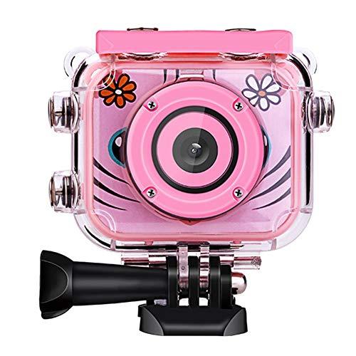 Heirao Kinder Sport Kamera, Wasserdichte Unterwasser-Camcorder 1080P HD Video Action Cam für Jungen Mädchen, Kleinkind Geburtstag Urlaub Spielzeug