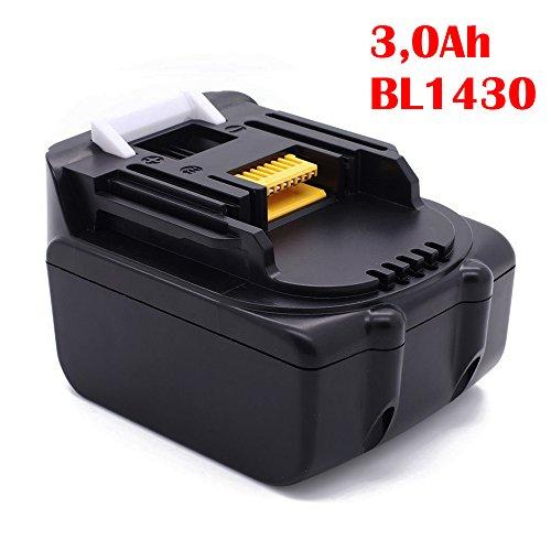 Preisvergleich Produktbild ADpower Akku für Makita BL1430 14,4V 3,0Ah 195444-8 Li-Ion Lithium-Ion Battery Ersetzen Hochleistung LG Zelle