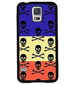 PrintVisa Metal Printed Logo Designer Back Case Cover for Samsung Galaxy S5 G900I-D4890