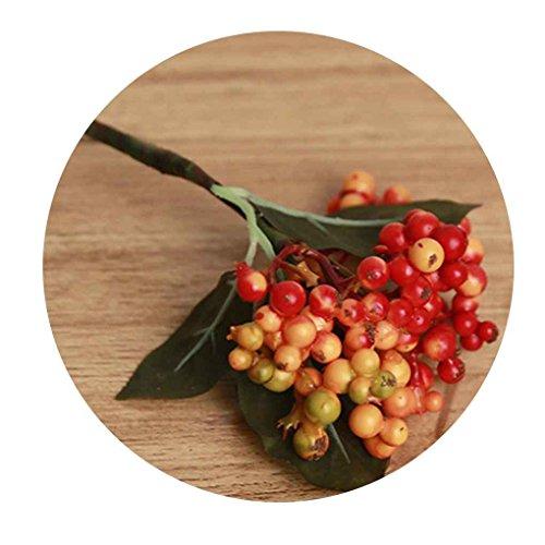 meisijia Künstliche Blumen Bouquet Auspicious Weihnachten Obst Home Decor Plant Beeren Orange - Obst Home Decor