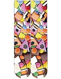 Morbuy Damen Socken, 3D Süßigkeiten Eiscreme Neuheit Lang Medium Socken  Bequeme Boden Socken Fashion Erwachsene 9941def932