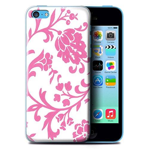 Coque de Stuff4 / Coque pour Apple iPhone 5C / Fleurs Rouge Design / Motif floral Collection / par Deb Strain / Penny Lane Publishing, Inc. Fleurs Rose