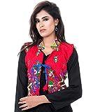 #8: Banjara India Kutchi Work Jacket (Peacock Butta) - Red
