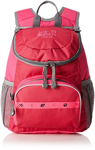 Jack Wolfskin Unisex - Kinder Rucksack Little Joe, azalea red, 31 x 26 x 23 cm, 11 liters, 26221 (Azalea Kleines Kind)