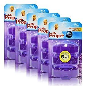5x Mr.Proper Nachfüller Ambi Pur 5in1 Lavendel & Rosmarin WC-Stein flüssig, 3×55 ml