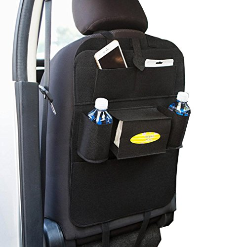 Preisvergleich Produktbild Coolster Auto Auto Sitz Rücken Aufbewahrungsbeutel Multi-Pocket Organizer Halter Aufhänger Taschen (schwarz)
