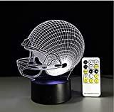 Suwhao  Baseball Rugby Casque Night Light Optique Illusion Table Light Humeur Touch Télécommande 7 Couleurs Home Light Party Decor