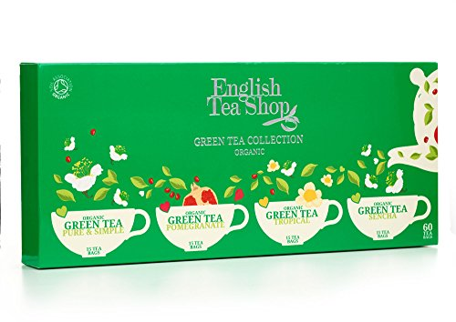 English Tea Shop Organic Green Tea Collection (Pack of 60 Tea Bags)