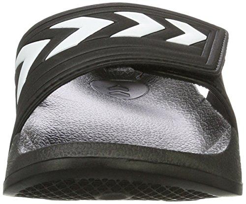 Hummel Larsen Slipper Velcro, Scarpe da Spiaggia e Piscina Unisex – Adulto Nero (Black)