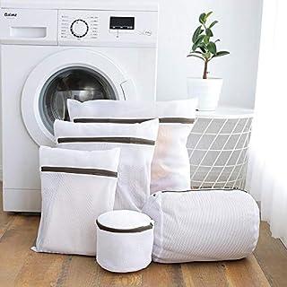 AOLVO Wäschesack für Feinwäsche, 5 Stück, Netz-Wäschesack mit Reißverschluss, verschiedene Größen, Mesh-Reissverschluss, Dessous-Taschen, BH, Waschbeutel, Set für Babykleidung, Bluse, Strumpfwaren