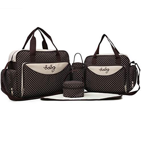 Hi-Smile Baby Wickeltasche, 5 Stück, gepunktet, Krankenhaus-Tasche, Mumien-Tasche - Rosy