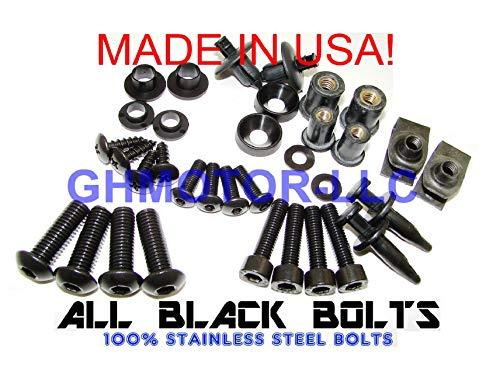 ghmotor komplett Verkleidung Schrauben gurthalteband Schrauben Set Made in USA für 200203042005Kawasaki ZZR1200alle schwarz