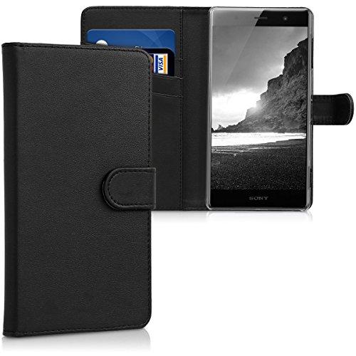 kwmobile Sony Xperia XZ2 Premium Hülle - Kunstleder Wallet Case für Sony Xperia XZ2 Premium mit Kartenfächern & Stand