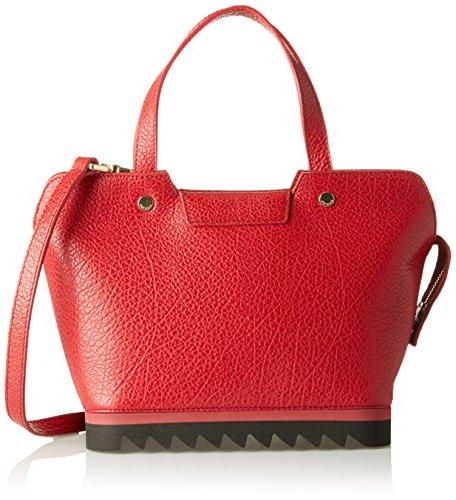 Arcadia Tessa, Borsa a Mano Donna, 15 x 21 x 31 cm (W x H x L) Rosso (Rubino)