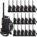Retevis RT24 Plus Walkie Talkie Lunga distanza Ricetrasmettitore PMR446 0.5W 16 Canali Ricetrasmittenti Licenza-Libero VOX Radio Bidirezionale con Caricatore USB(Nero,20 Pezzi)