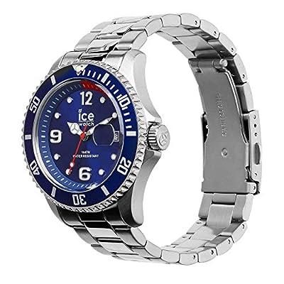 Ice-Watch - Ice Steel Blue Silver - Reloj Azul para Hombre con Correa de Metal - 15771 (Medium) de Ice-Watch