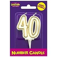 Age 40 Milestone Birthday Cake Candle