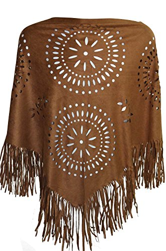 poncho-indien-cape-franges-thnique-pocahontas-marron