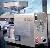 Gorek Technologies GT-OT Stainless Steel Oil Press Machine 600W with Temperature Controller and Higher Capacity (Silver)