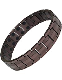 MPS® EUROPE Coffee Tone Double Strength Titanium Magnetic Bracelet + FREE Links Removal Tool