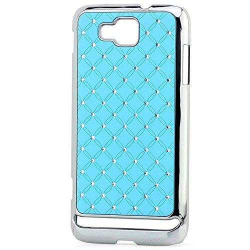 Saxonia Apple iPhone SE 5 5S Hülle Case Back Cover Schutzhülle Silber Glitzer Blau