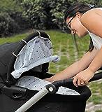 Dooky Design Sonnenschutz Sonnenblende für Kinderwagen und Babyschalen Light Grey Crowns