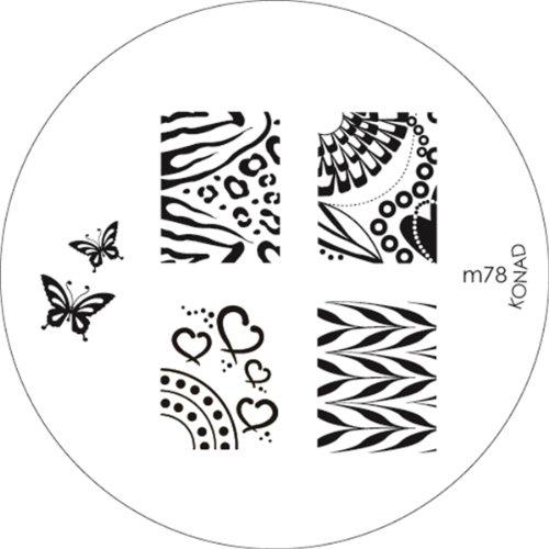Konad Stamping Schablone für Nailart M78 - Konad Platten Set