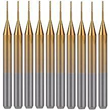 UE _ Hozly titanio Coat carburo 3.175mmx0.5mmx3mm fresa punte dell' incisione CNC frese, confezione da 10