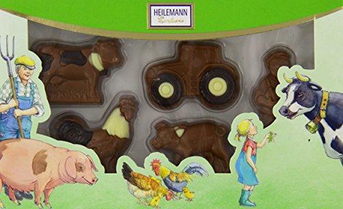 Heil Chocolat Bonhomme de Ferme Contenu du edelv ollm ilch, pack de 1(1x 100g)