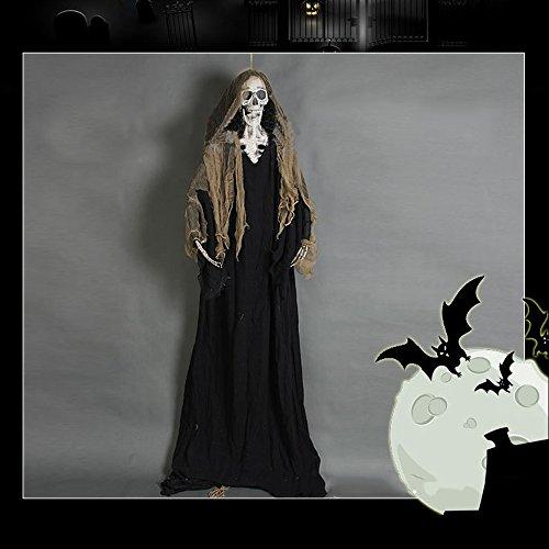 anging Sensenmann-Schädel-Skeleton Halloween Scary Dekoration Prop (Scary Halloween-dekoration Props)