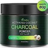 MayBeau polvere per sbiancamento dei denti approvata dalla candeggina al carbone attivo naturale FDA Grande capacità Sapore di menta biologico Sbiancante al carbone di cocco