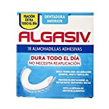 Algasiv, Almohadillas Adhesivas para Dentaduras Postizas Inferiores, Dura Todo el Día y protege las encías, 18 Unidades