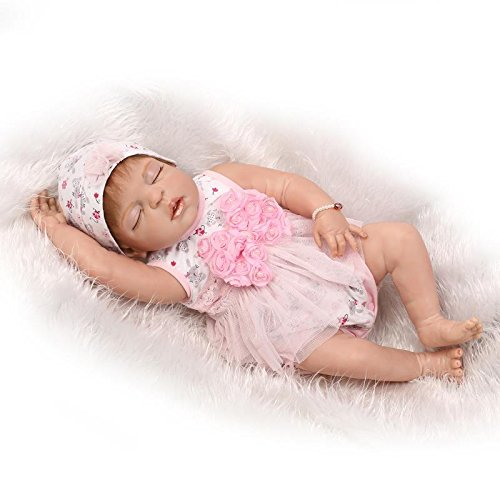Nicery Baby Born de Muñecas Vinilo de Silicona Dura para Niños y Niñas Cumpleaños 20-22 Inch 50-55 cm Juguetes gx55h-3es