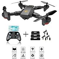 XS809W Foldable RC Quadcopter avec Altitude Hold FPV VR Wifi Grand angle 720P 2MP HD Camera 2.4GHz 6-Axis Gyro Télécommande XS809HW Drone + 3Pcs Batterie + 3Pcs Câble de chargement USB