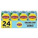 Lipton Sparkling Zero Ice Tea Classic - Kohlensäurehaltiger Eistee mit Zitronen Geschmack ohne Zucker - 24 x 0,33l