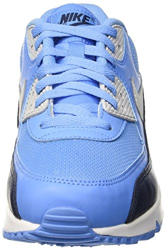 Nike Air Max 90 Essential, Chaussures de Running Entrainement Homme Bleu (University Blue/Pure Platinum Obsidian White)