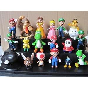 18pcs Set 1-3″ Super Mario Bros Figure Toy Doll Pvc Figure Collectors By sanlise