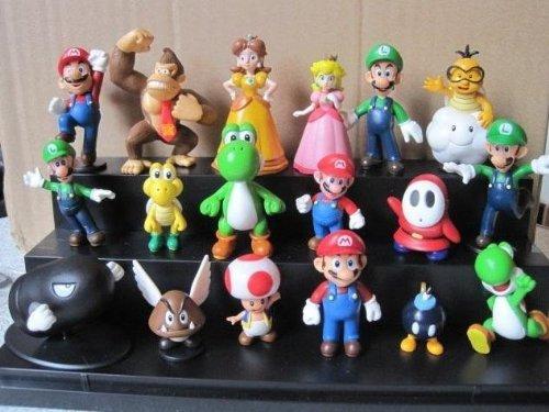"""18Pcs Set 1-3"""" Super Mario Bros Figure Toy Doll Pvc Figure Collectors By Sanlise 2"""
