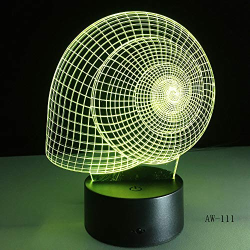 Angle Wings 7 Farbwechsel führt Kids Bedside Remote Leuchten 3D Vision USB Schreibtisch Lampen Home Decor Nachtlichter 6 Controller -