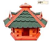 XXL großes Vogelhaus, Gartendeko , große Größen, auch mit vogelhausständer und Silo, aus Holz, große Vogelvilla Holz komplett mit Ständer, Futterhaus GRÜN moosgrün Vogelfutter