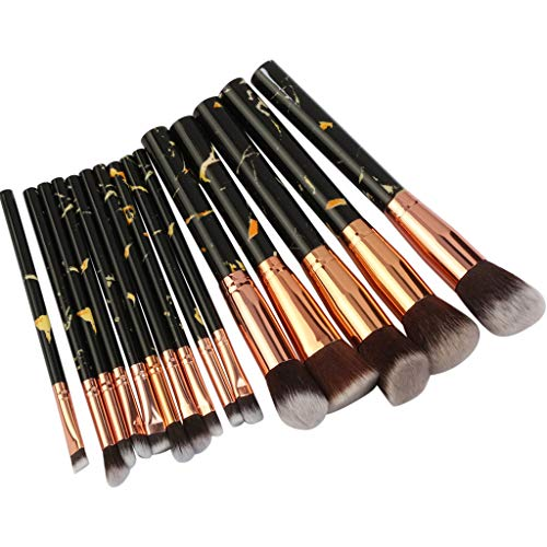 15pcs multifonctionnel pinceau de maquillage correcteur d'ombres à paupières pinceau outil-Make Up Set Pinceaux Cosmétiques Avec Poils Synthétiques Set Pinceaux Cosmétiques Pour Professionnels